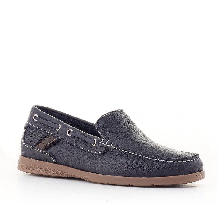 Zapatos vestir Lobo pezzo azul oscuro - Querol online