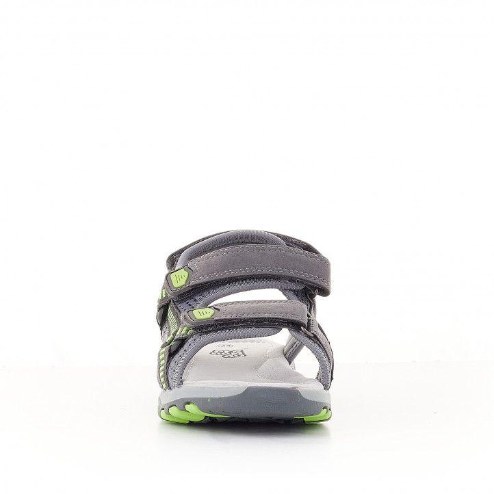 sandàlies CRECENDO grises amb detalls verds - Querol online