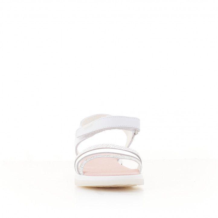 sandàlies Pablosky blanques amb detalls metàl·lics - Querol online