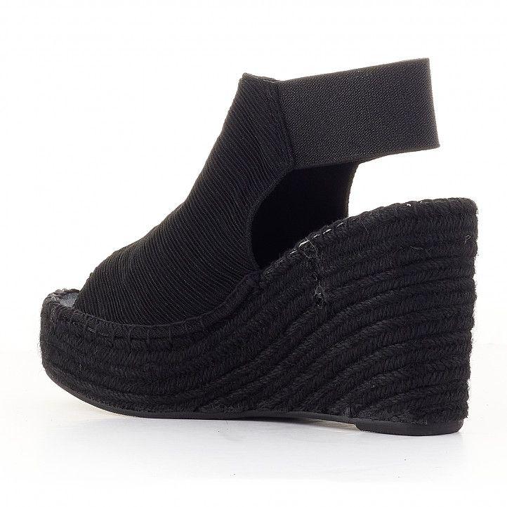 Sandalias plataformas Replay negras cerradas - Querol online