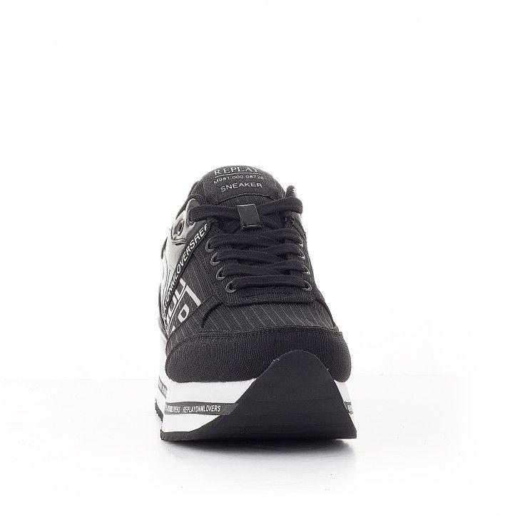 Zapatillas deportivas Replay negras con logo en lateral - Querol online