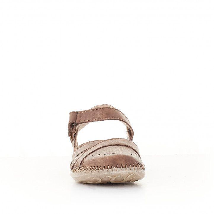 Sandàlies planes Walk & Fly marrons tancades per davant - Querol online