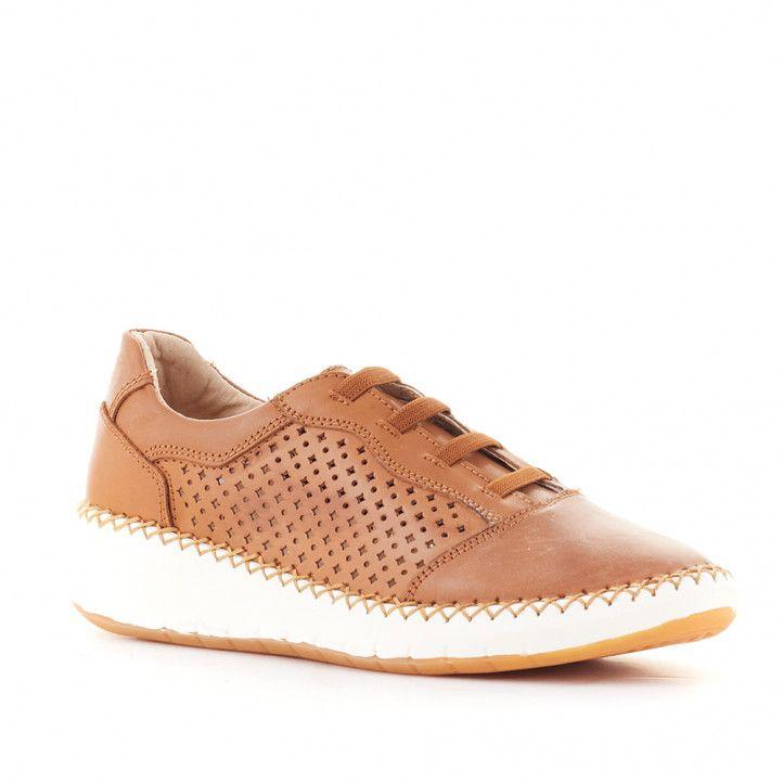 Zapatos planos The Happy Monk travel col piel perforada - Querol online
