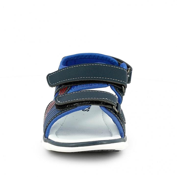 sandalias QUETS! cerradas azules y rojas con triple velcro - Querol online