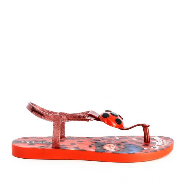 Chanclas Ipanema rojas lady bug - Querol online