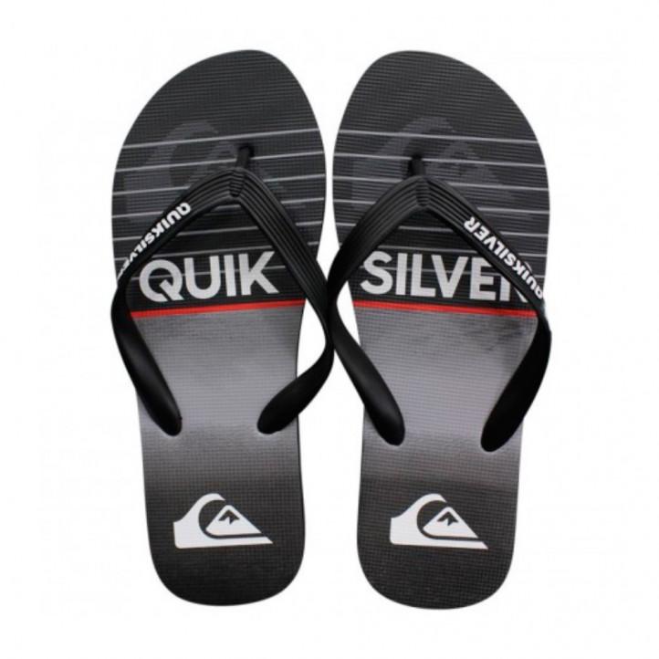 chanclas Quiksilver negras, grises y blancas - Querol online