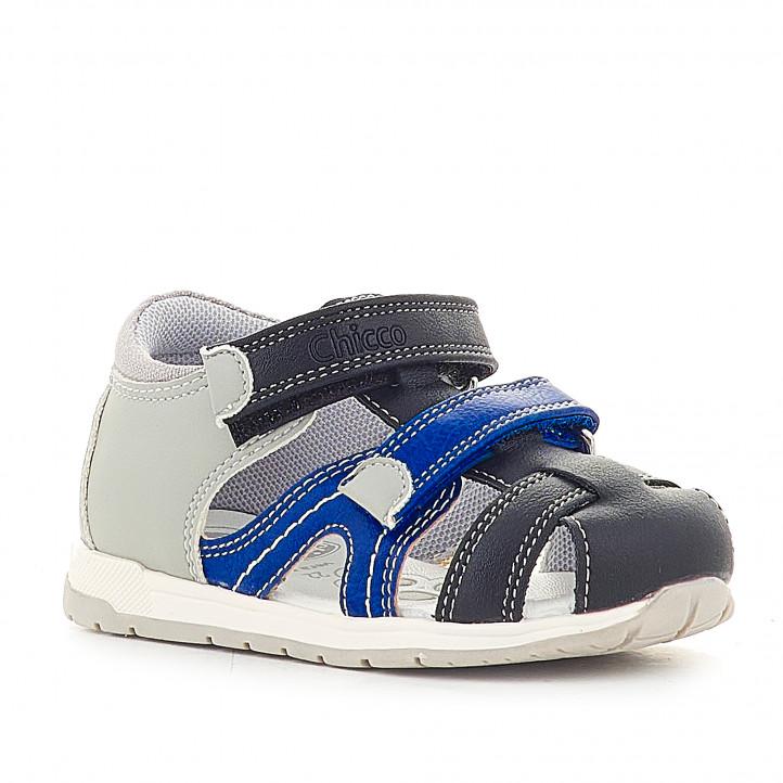 Sandàlies abotinades Chicco grises i blaves - Querol online