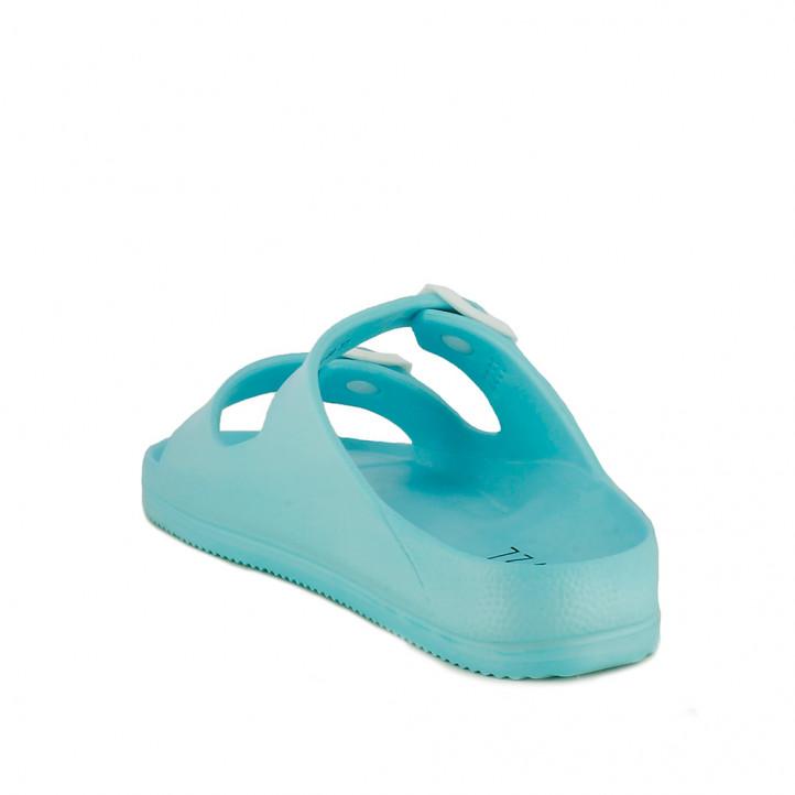 Chanclas Owel azules abiertas con doble hebilla - Querol online