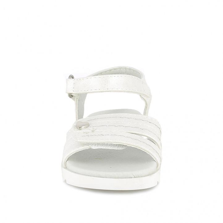 sandalias QUETS! blancas de tiras y doble velcro - Querol online