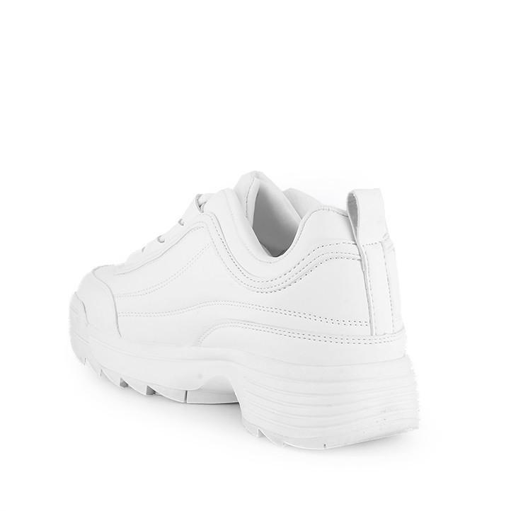Zapatillas deportivas Owel blancas con suela dentada - Querol online