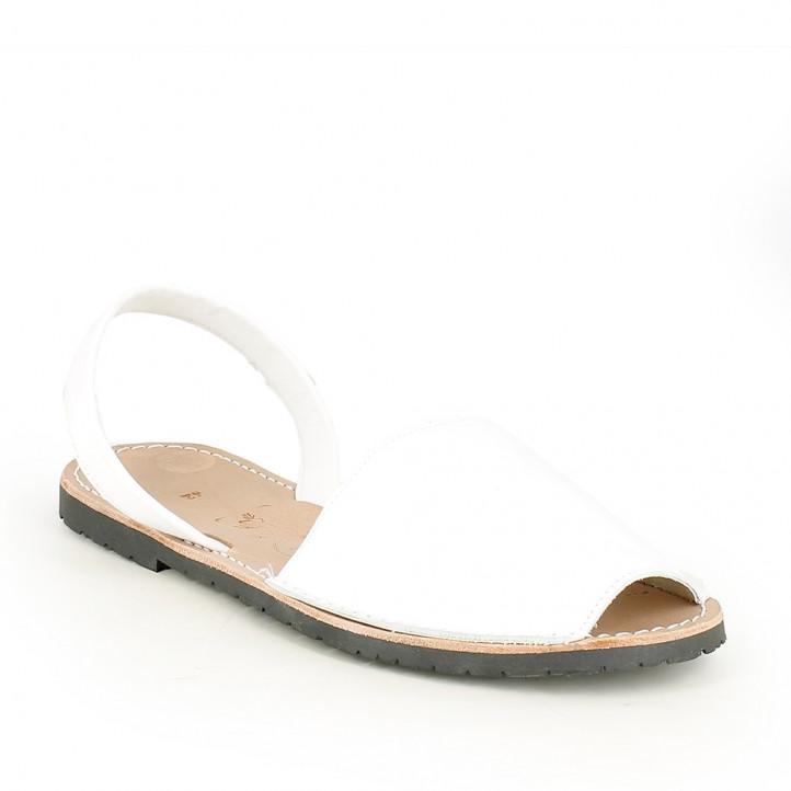 Abarcas Rotger blancas de piel - Querol online