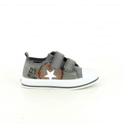 zapatillas lona K-TINNI grises con una estrella - Querol online