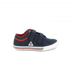 zapatillas lona LE COQ SPORTIF azules y rojas con velcro - Querol online