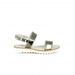 sandalias K-TINNI plateadas con la suela blanca - Querol online