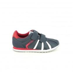 zapatillas deporte LEVIS KIDS azules con rayas blancas - Querol online