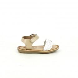 sandalias GIOSEPPO marrones y blancas trenzadas - Querol online