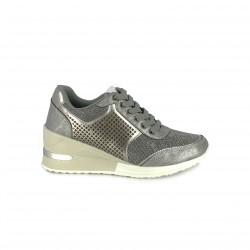 zapatillas deportivas MARIA MARE plateadas con cuña - Querol online