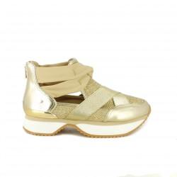 zapatillas deportivas GIOSEPPO doradas sin cordones - Querol online