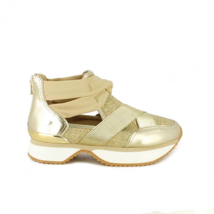 Sneakers doradas aperturas de Gioseppo Gioseppo T41haf