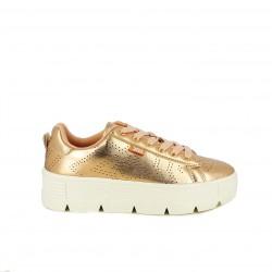 zapatillas deportivas XTI metalizadas con plataforma i estrellas - Querol online