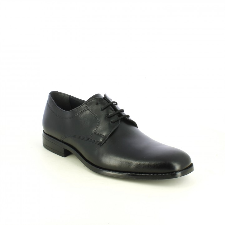 sabates vestir BAERCHI clàssiques bluchers de pell negres - Querol online