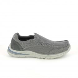 zapatos sport SKECHERS mocasines grises con elásticos - Querol online