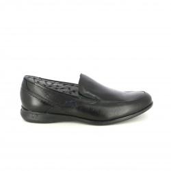 zapatos sport FLUCHOS mocasines negros de piel - Querol online