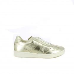 zapatillas deportivas REDLOVE doradas de piel - Querol online