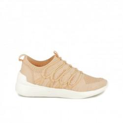 zapatillas deportivas OWEL rosas con gomas - Querol online