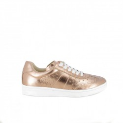 zapatillas deportivas REDLOVE rosas metalizadas de piel - Querol online