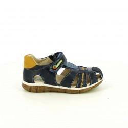 sandalias PABLOSKY azules y marrones de piel - Querol online