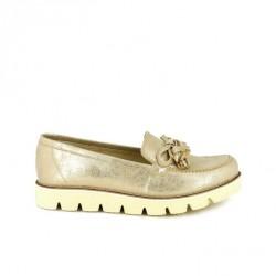 zapatos planos REDLOVE mocasines dorados con borlas - Querol online
