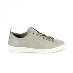 zapatos sport LOBO grises de piel con cordones - Querol online