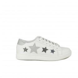 zapatillas deportivas Mustang blancas con estrellas - Querol online