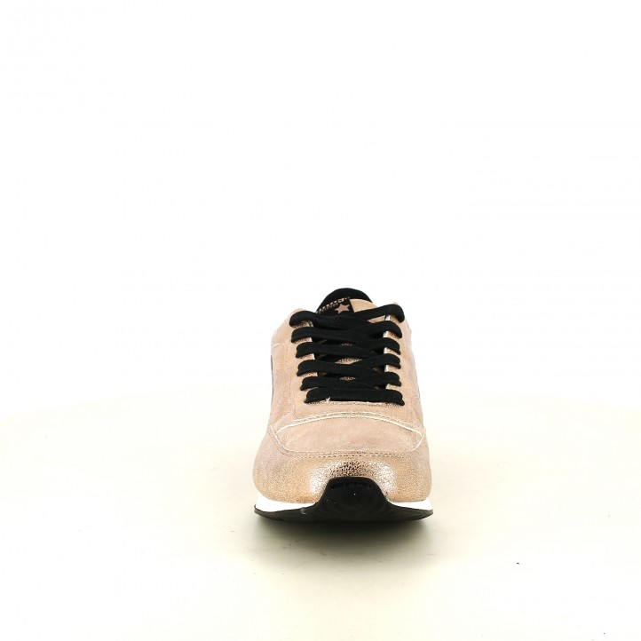 zapatillas deportivas Mustang metalizadas y negras - Querol online