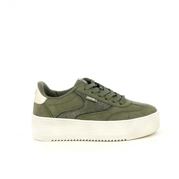 5e634301ac54e zapatillas lona Mustang verdes con plataforma - Querol online ...