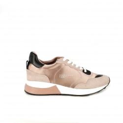 zapatillas deportivas MARIA MARE rosas y negras con mensaje - Querol online