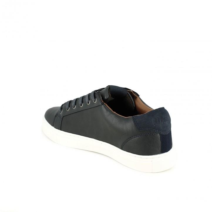 zapatos sport Mustang azul marino con cordones - Querol online