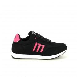 zapatillas deportivas Mustang negras y rosas - Querol online