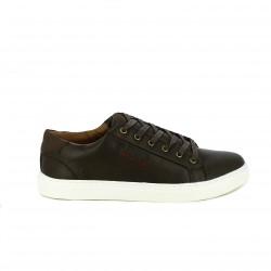 zapatos sport Mustang marrón chocolate con cordones - Querol online