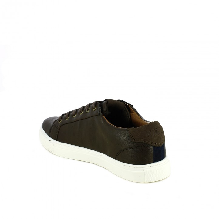 sabates sport Mustang marró xocolata amb cordons - Querol online