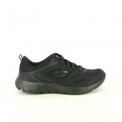 zapatillas deportivas SKECHERS negras transpirables y con memory foam - Querol online