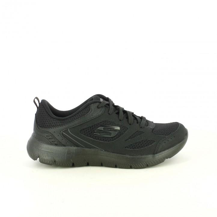 ea14e3d51bcf zapatillas deportivas SKECHERS negras transpirables y con memory foam -  Querol online ...