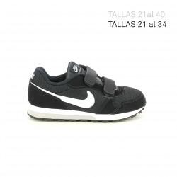 zapatillas deporte NIKE md runner negras y blancas - Querol online