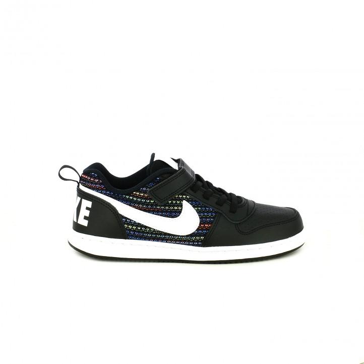 76f2bd8446a01 zapatillas deporte NIKE court borough negras y de colores - Querol online  ...