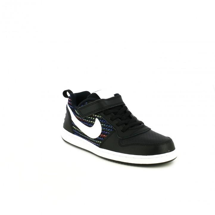 zapatillas deporte NIKE court borough negras y de colores - Querol online