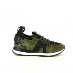 zapatillas deportivas SixtySeven 67 de piel con estampado militar - Querol online