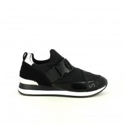 zapatillas deportivas SixtySeven 67 negras con hebillas sport - Querol online