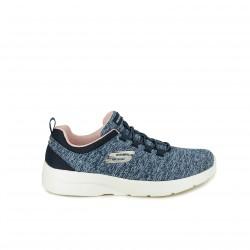 zapatillas deportivas SKECHERS azules y rosas con memory foam - Querol online