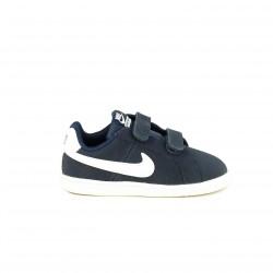 zapatillas deporte NIKE court royale azul marino y blancas - Querol online